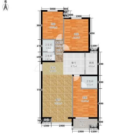 藏龙福地3室1厅3卫1厨138.00㎡户型图