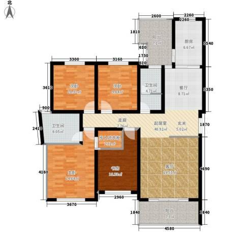 仁和香堤雅境4室0厅2卫1厨153.00㎡户型图