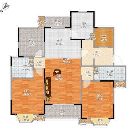 华府壹区2室1厅2卫1厨158.00㎡户型图