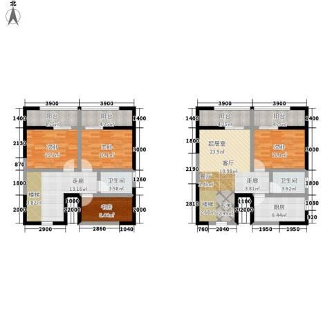 广天国际公寓4室0厅2卫1厨155.00㎡户型图