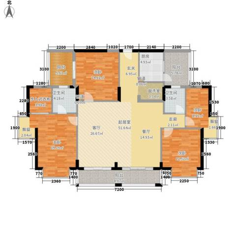 创远景园4室0厅2卫1厨142.96㎡户型图