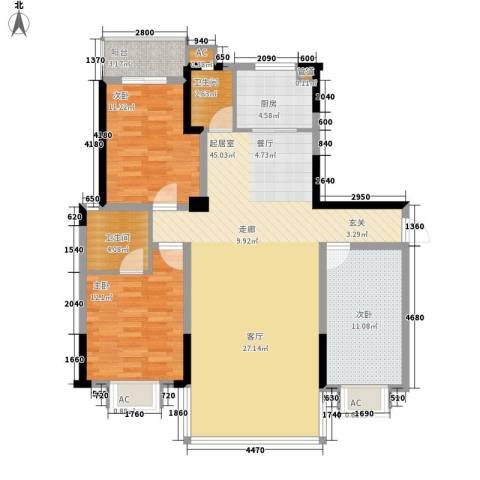 鑫天山水洲城3室0厅2卫1厨137.00㎡户型图