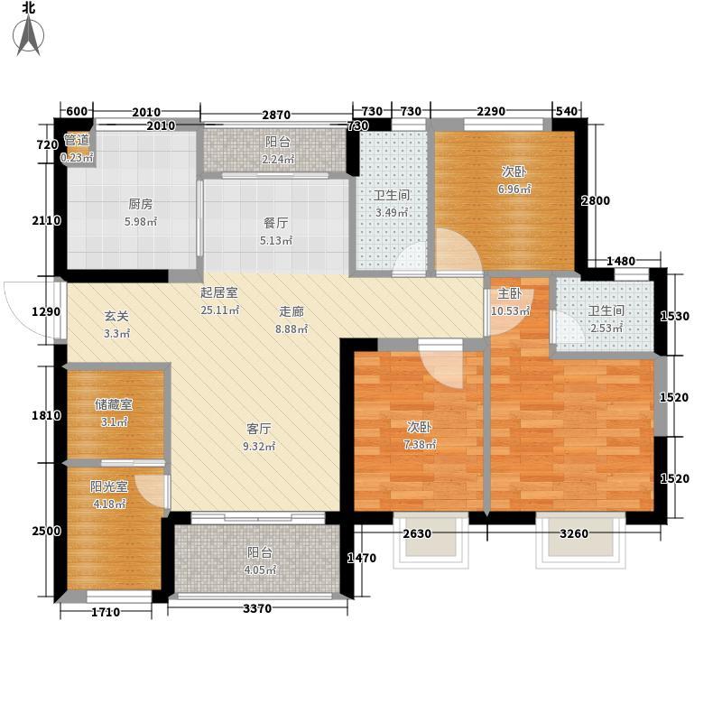 嘉和城87.00㎡E30户型5室2厅