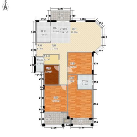 长房西郡4室0厅2卫1厨192.00㎡户型图