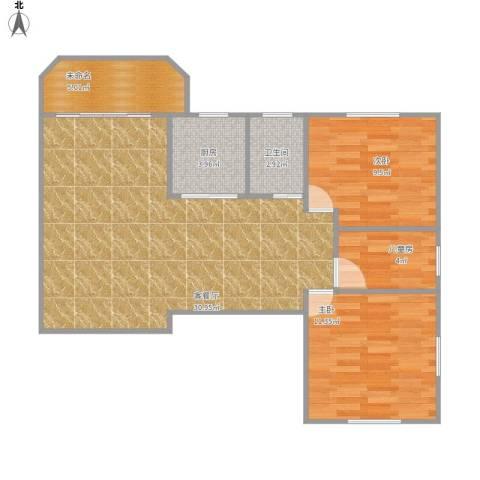 信成小区3室1厅1卫1厨91.00㎡户型图