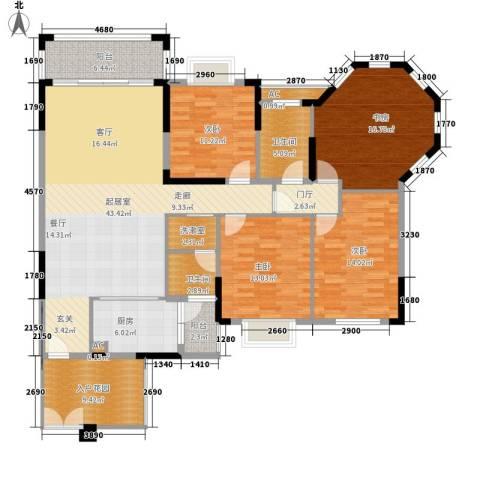 沁园春御院4室0厅2卫1厨152.00㎡户型图