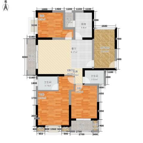 旭辉藏郡3室0厅2卫1厨132.00㎡户型图
