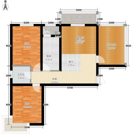 绿雅园2室1厅1卫1厨112.00㎡户型图