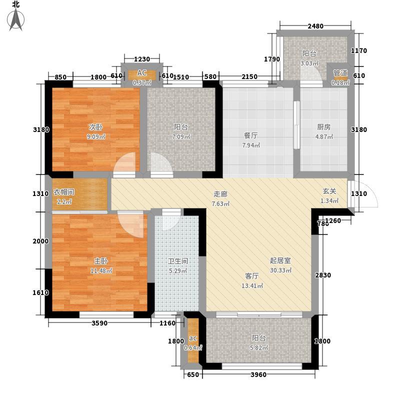 汇融悉尼湾104.00㎡五号楼G2面积10400m户型
