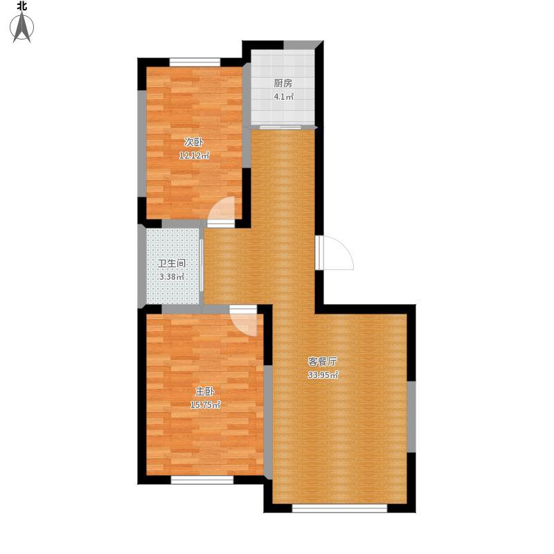 翰林雅苑101方A1两室两厅一厨一卫