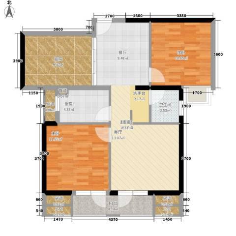 旭辉藏郡2室0厅1卫1厨89.00㎡户型图