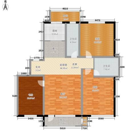 人民新村3室0厅2卫1厨150.00㎡户型图