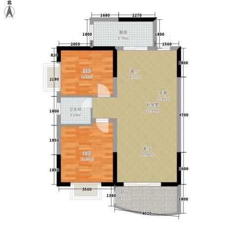 德政园电信小区2室0厅1卫1厨92.00㎡户型图