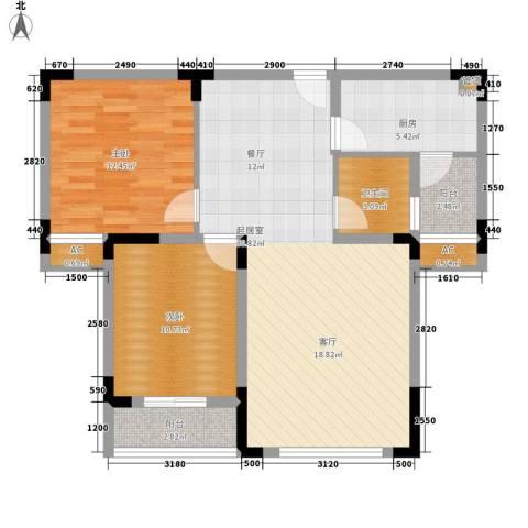 湘核佳苑2室0厅1卫1厨100.00㎡户型图