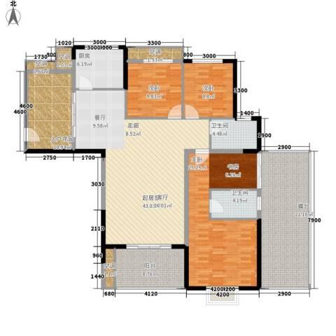 旭辉藏郡3室0厅2卫1厨155.00㎡户型图