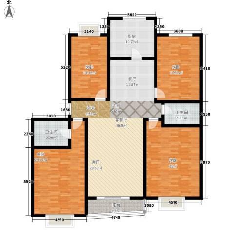 科技公寓4室1厅2卫1厨177.00㎡户型图
