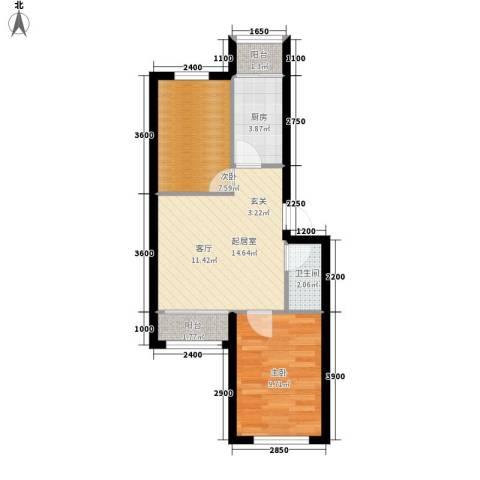 龙乡小区2室0厅1卫1厨59.00㎡户型图