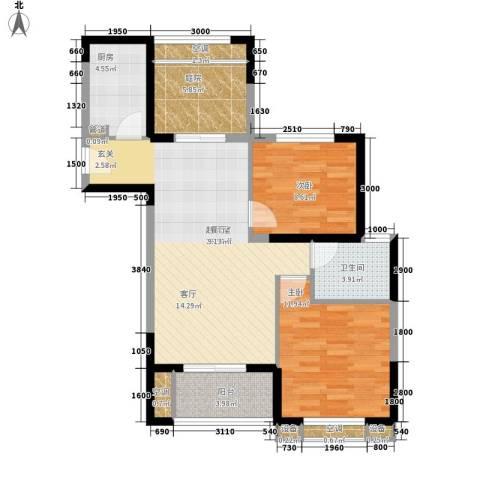 旭辉藏郡2室0厅1卫1厨87.00㎡户型图