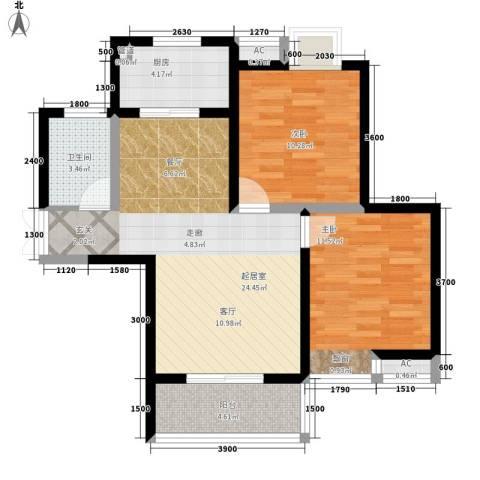 广天国际公寓2室0厅1卫1厨87.00㎡户型图