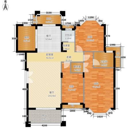 沁园春御院3室0厅2卫1厨151.00㎡户型图