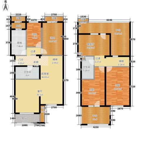 龙锦苑东三区4室0厅2卫1厨255.00㎡户型图