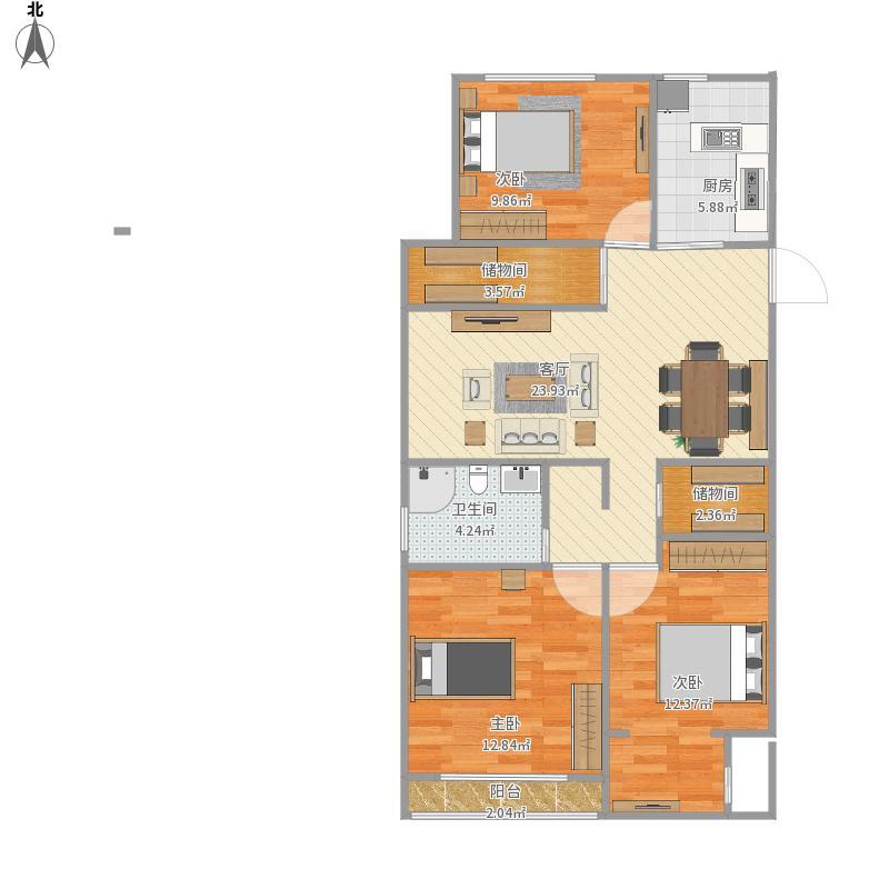 三室两厅中央公元