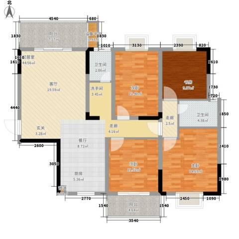 鑫天山城明珠4室0厅2卫0厨134.00㎡户型图
