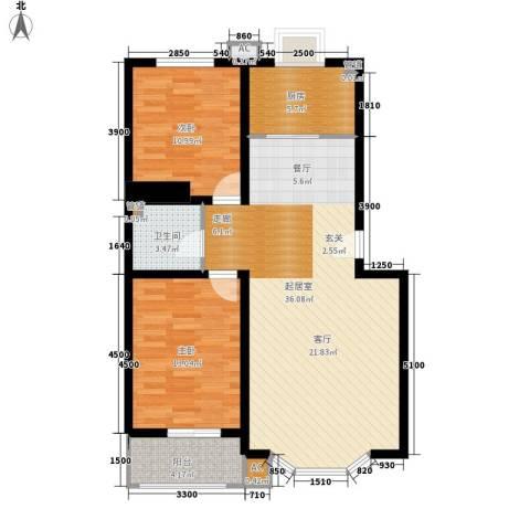 秋景怡园2室0厅1卫1厨92.00㎡户型图