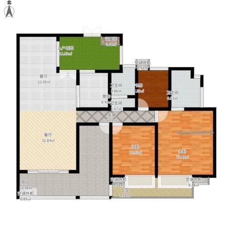 富中蝴蝶谷3室1厅2卫1厨225.00㎡户型图