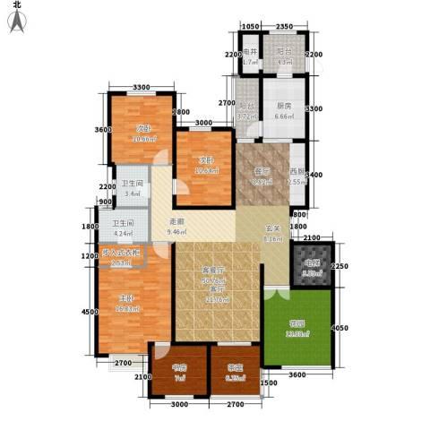 藏龙福地4室1厅2卫1厨185.00㎡户型图