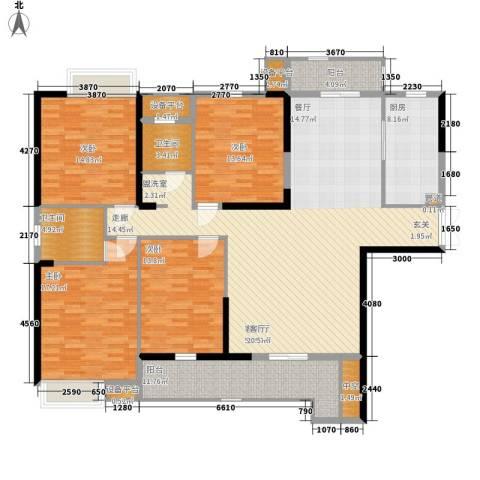 紫金苑4室1厅2卫1厨150.15㎡户型图