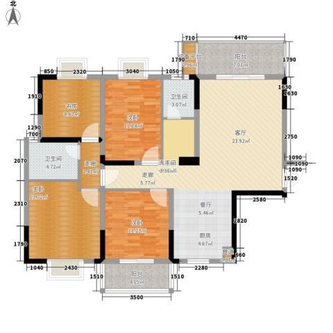 鑫天山城明珠4室0厅2卫0厨137.00㎡户型图