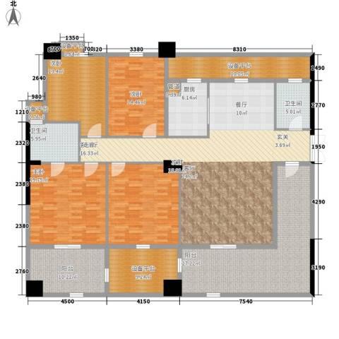 紫金苑4室1厅2卫1厨221.00㎡户型图