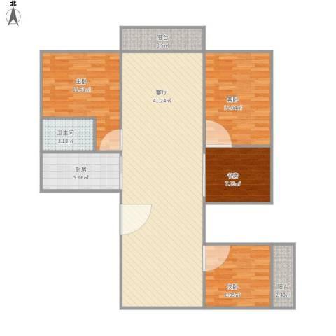 盛世江南4室1厅1卫1厨127.00㎡户型图