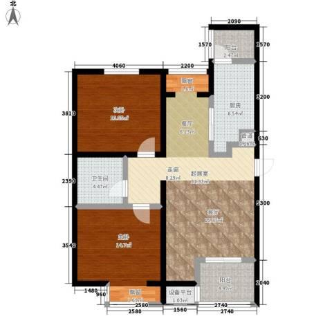 弘泽鉴筑2室0厅1卫1厨95.00㎡户型图