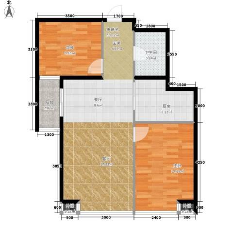 藏龙福地2室0厅1卫1厨94.00㎡户型图