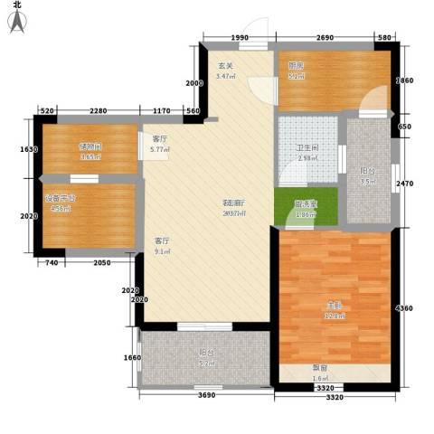 棕榈湾1室1厅1卫1厨73.00㎡户型图