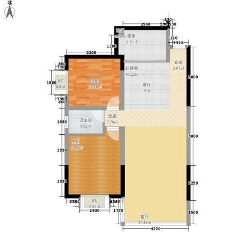 鑫天山水洲城2室0厅1卫1厨99.00㎡户型图