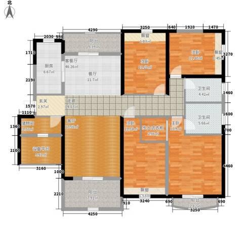 棕榈湾4室1厅2卫1厨163.00㎡户型图