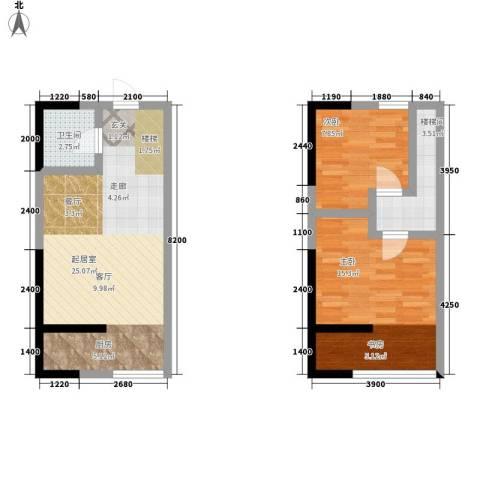 广天国际公寓2室0厅1卫0厨80.00㎡户型图
