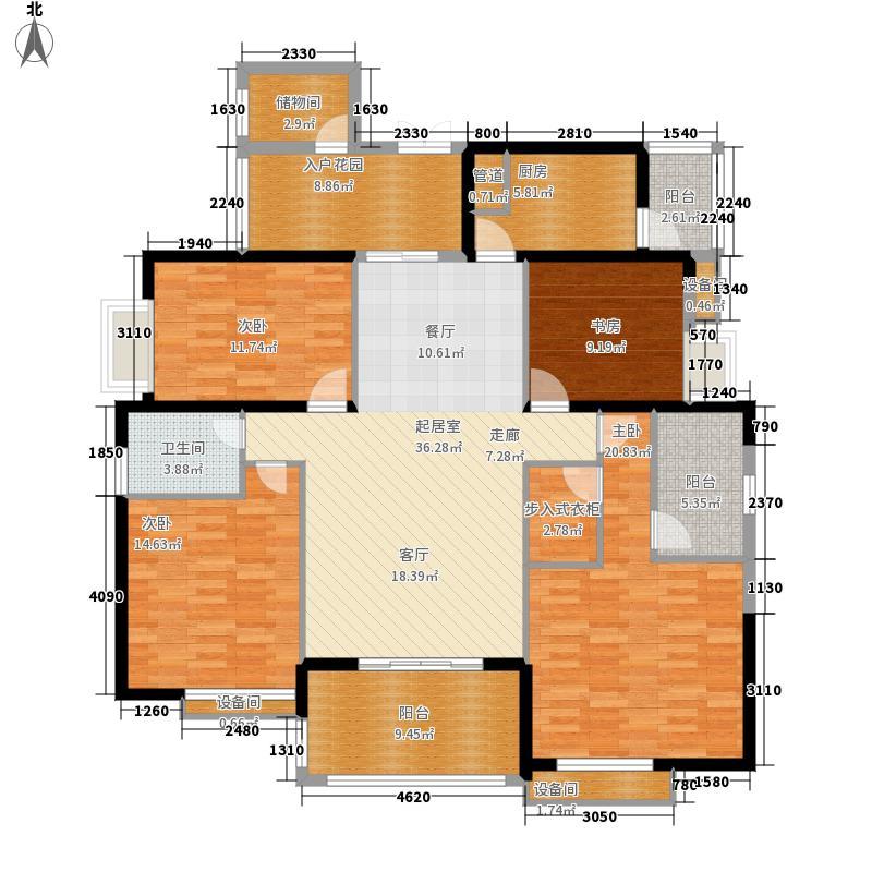 上海城157.24㎡2面积15724m户型