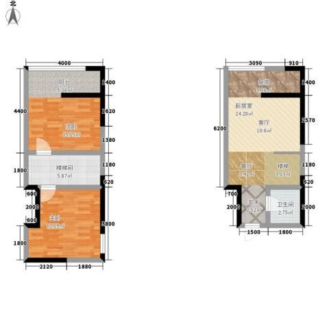 广天国际公寓2室0厅1卫0厨88.00㎡户型图