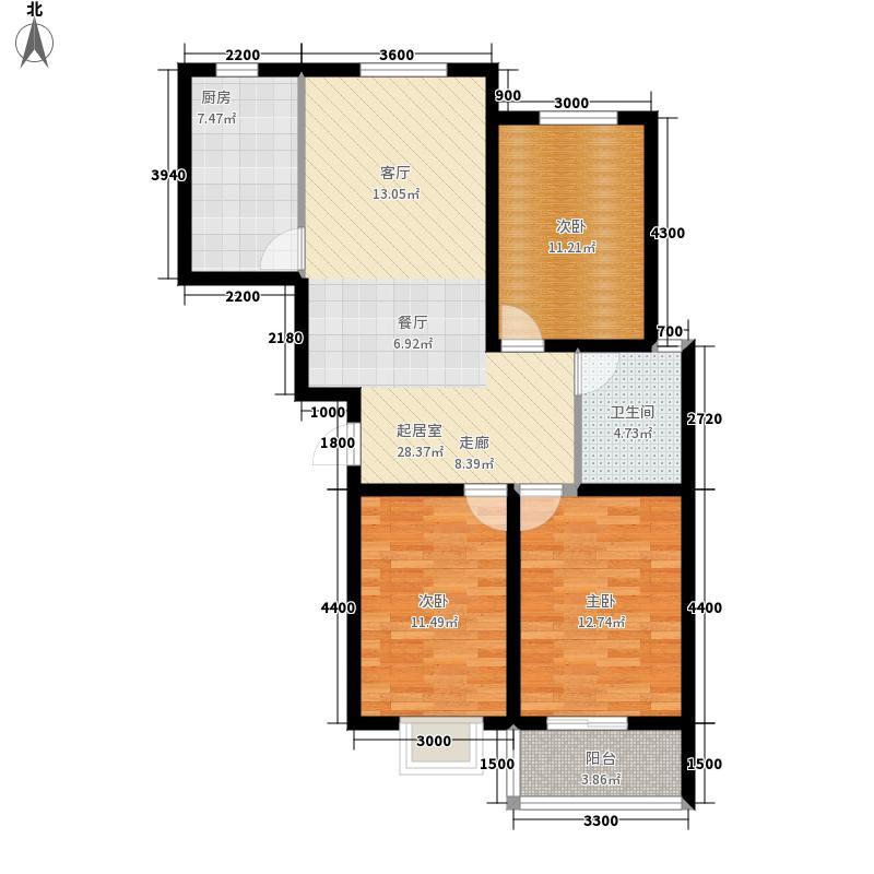 新大院2#楼标准层E2户型