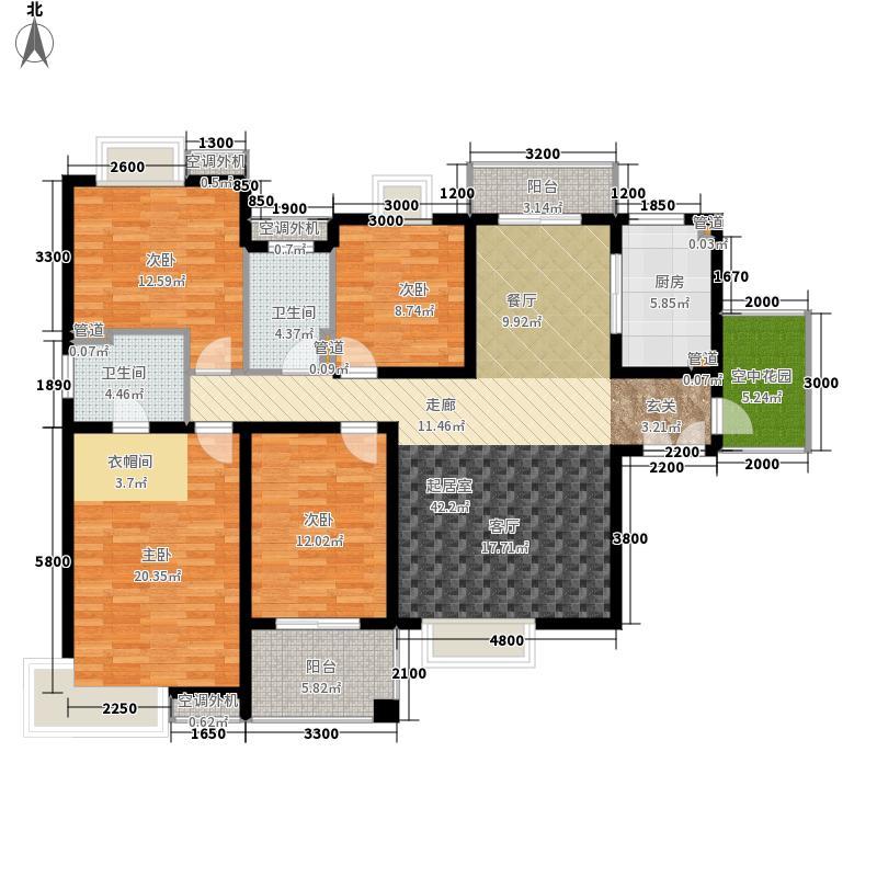 紫薇曲江意境168.00㎡8#楼A-1户型