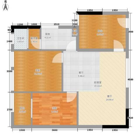 巧克力空间2室0厅1卫1厨93.00㎡户型图