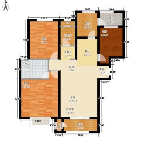 清渭公馆3室0厅2卫1厨130.00㎡户型图
