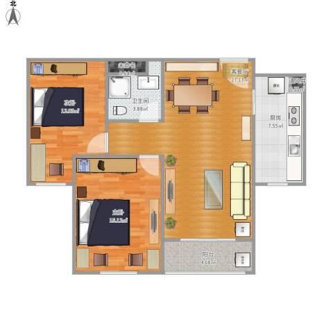 爱佳7982室1厅1卫1厨96.00㎡户型图