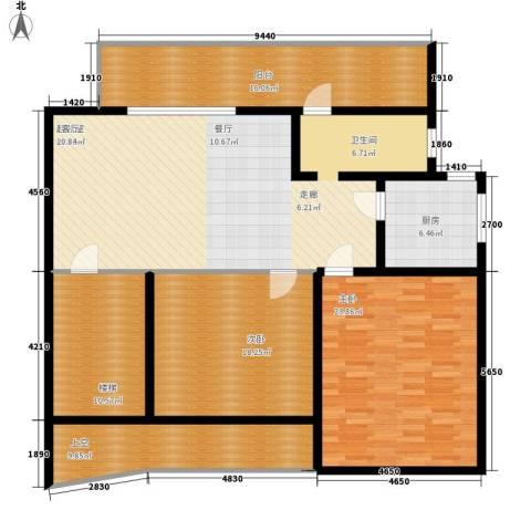 滨江美寓2室0厅0卫1厨126.62㎡户型图