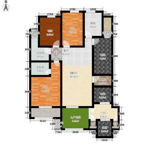 汇景园3室1厅2卫1厨142.00㎡户型图