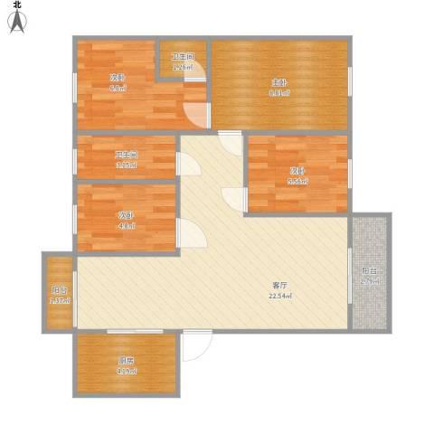 健康花城26栋2单元15084室1厅2卫1厨84.00㎡户型图